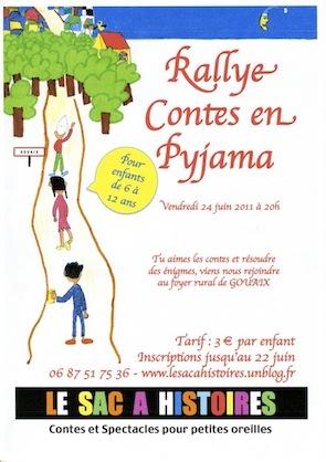Affiche Rallye Pyjama Juin 2011